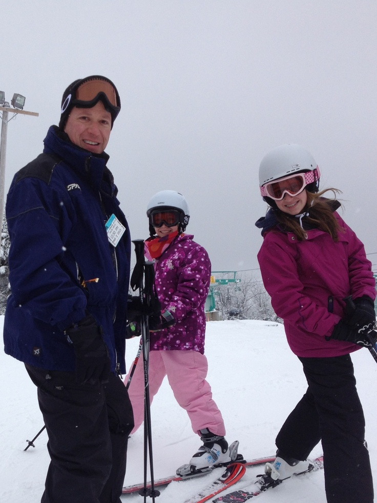 Skiing with my girls at Elk Mountain, PA