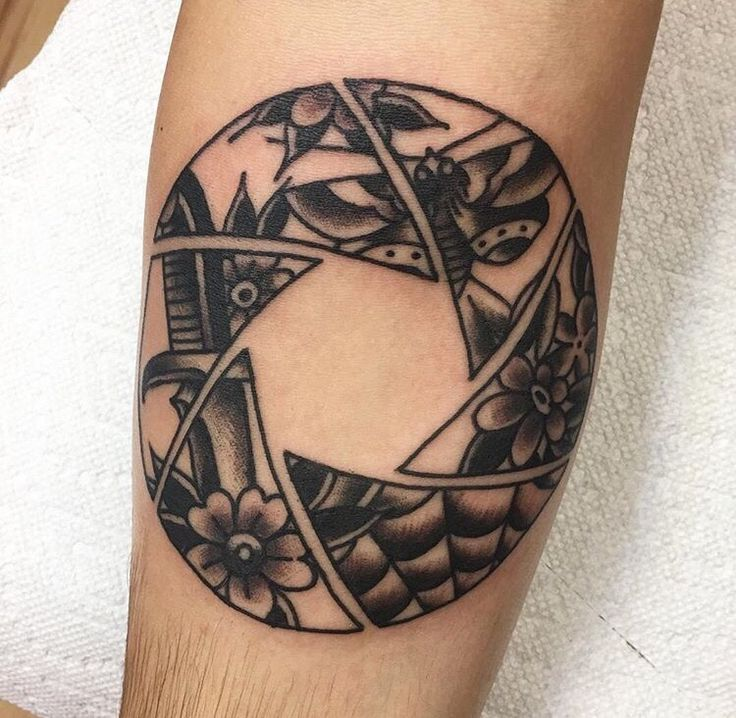 I've always wanted an aperture tattoo to express my love and passion for photography. I think this is pretty unique and I'd have a different picture filled in.
