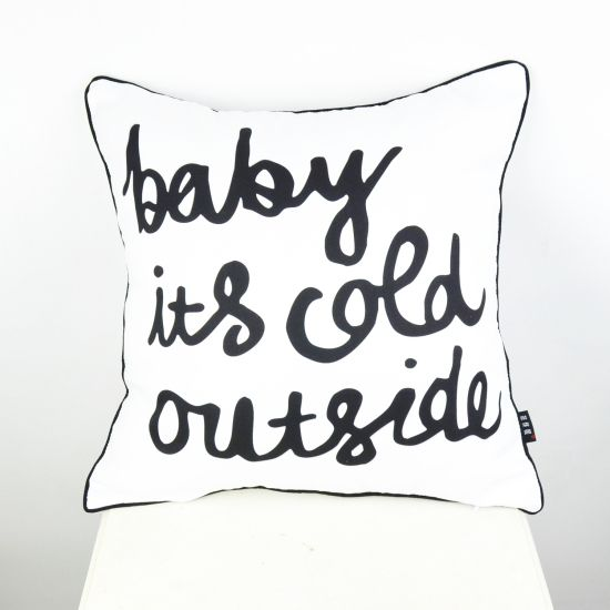 """18"""" * 18 """" Ikea Decorative Throw Pillow Cover Baby its cold outside Cushion Cover Pillowcase for Bedding Couch"""