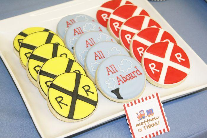 RR Crossing & All Aboard Cookies