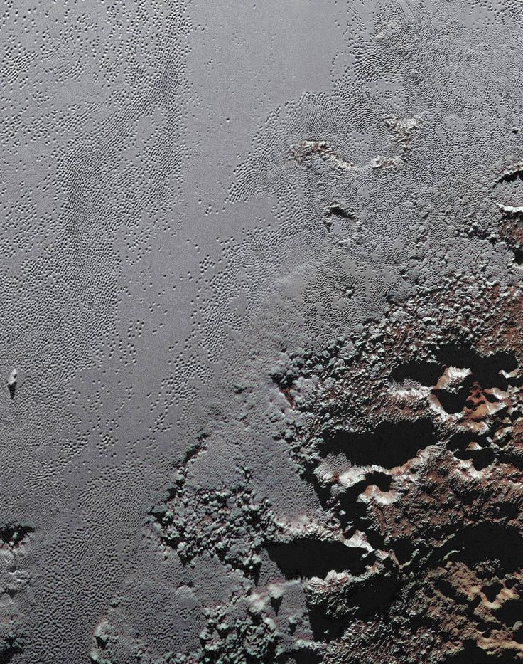 NASA's New Horizons spacecraft zooms in on the southeastern portion of Pluto's…