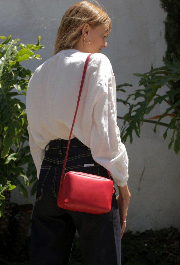 358dcb54b Mansur Gavriel Double Zip Crossbody - Flamma on   Bags   Bags ...