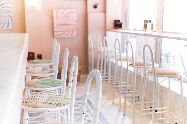 Coffee bag metal bar chairs | SrkizChaos