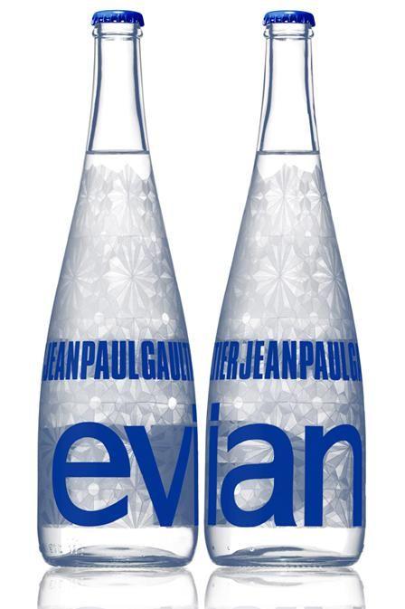 #Bouteille #Evian design by Jean-paul Gautier