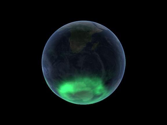 Southern Lights seen from space