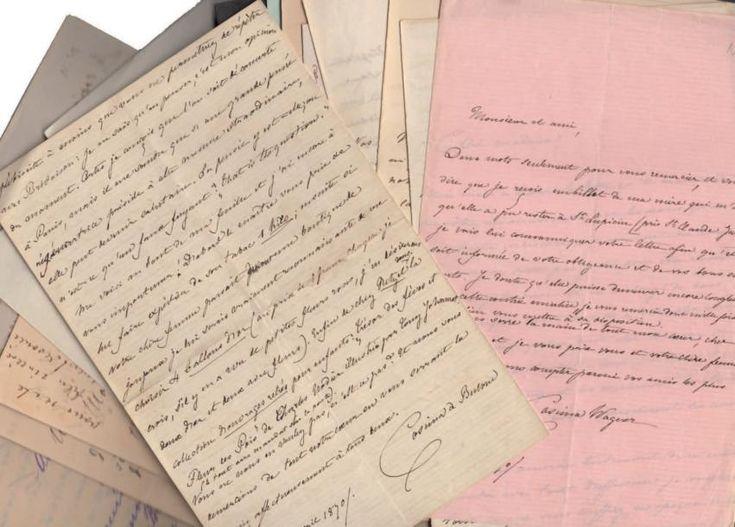 WAGNER (Cosima) (1837-1930) Correspondance de 33 lettres autographes signées à Edouard Schuré (dont 1 à sa femme), de Tribschen et Bayreuth avril 1870 à novembre 1900, 120 pages de formats divers. 3 enveloppes.… - Binoche et Giquello - 12/05/2017