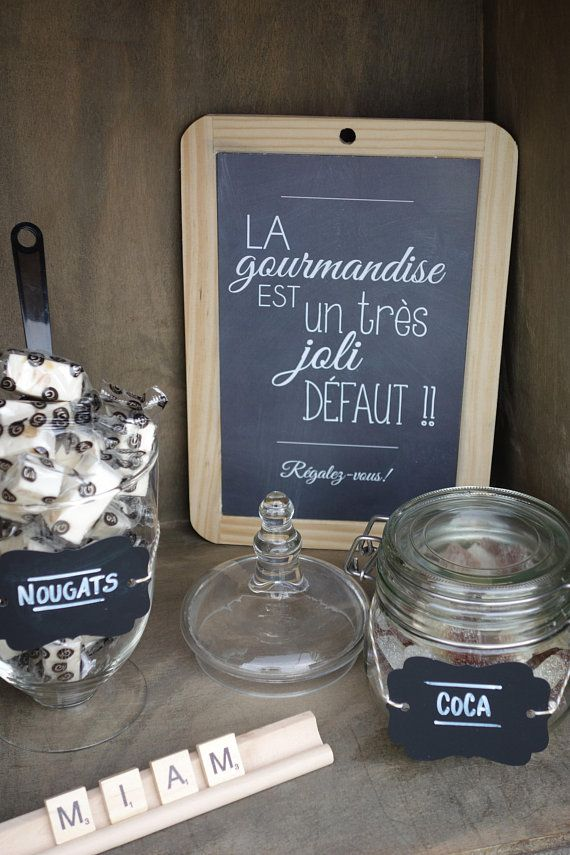 French Candy Bar School Slate - Chalkboard Wedding Candy Bar ...