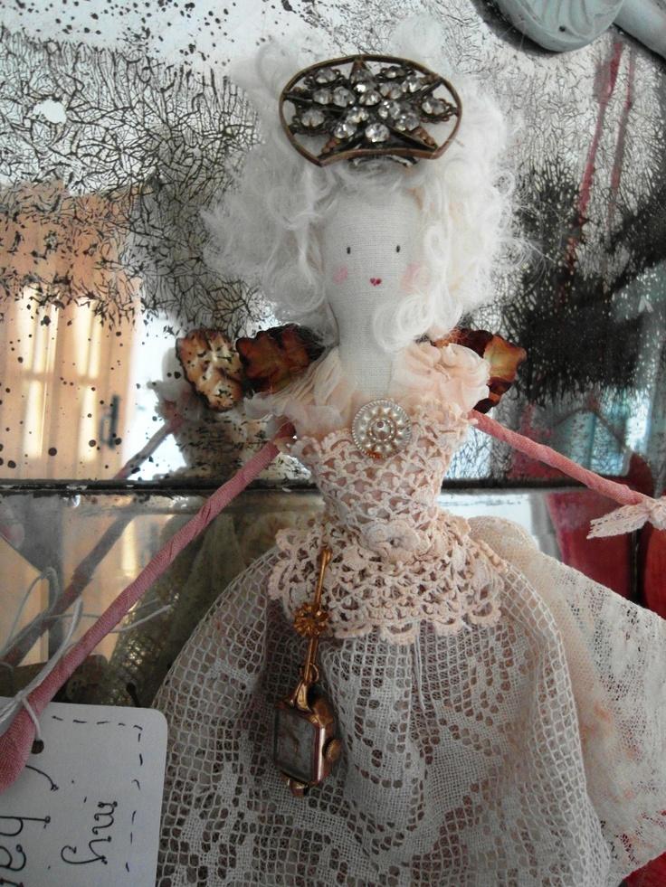 handmade Christmas fairy doll
