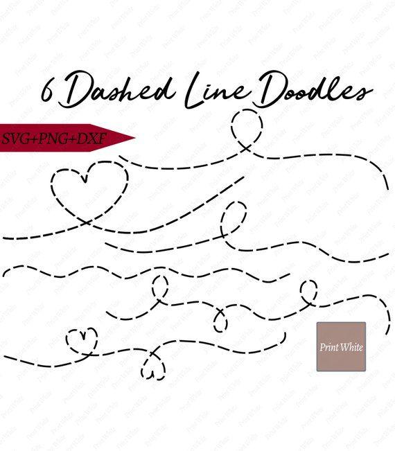 Dotted Line Svg Dotted Line Doodles Set Png Svg Dxf Digital Download Dotted Line Clipart Dashed Line Svg Doodle Line Svg Download