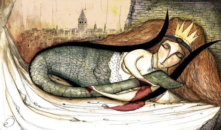erhanc:  Şahmeran / Shahmaran, Queen of Serpents