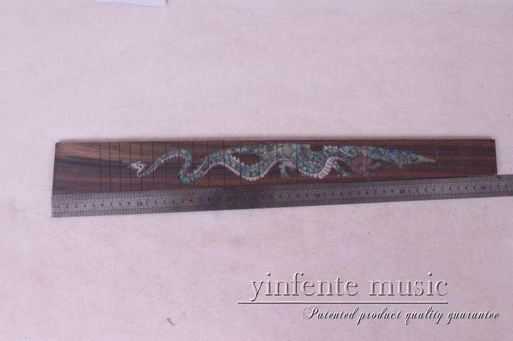 "new  high Quality  1 x  24.75""electric   Guitar Fretboard electric guitar rose  Wood Fretboard Parts 9# inlay"