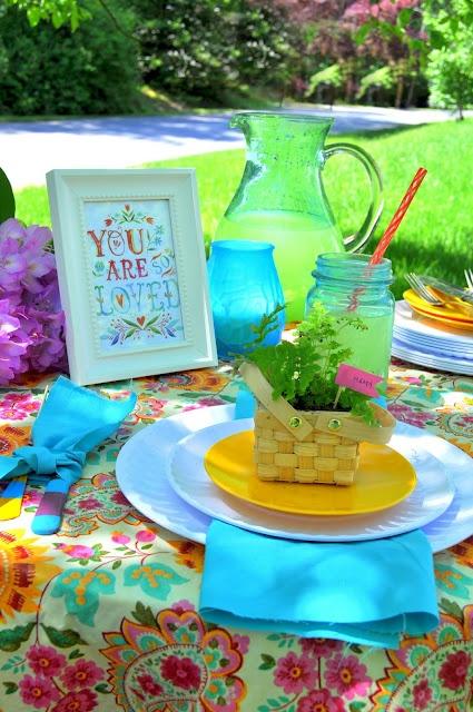 garden wedding table settings - Google Search