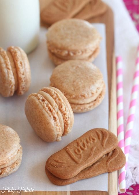 Biscoff Macarons... Love this spin on the Macarons!