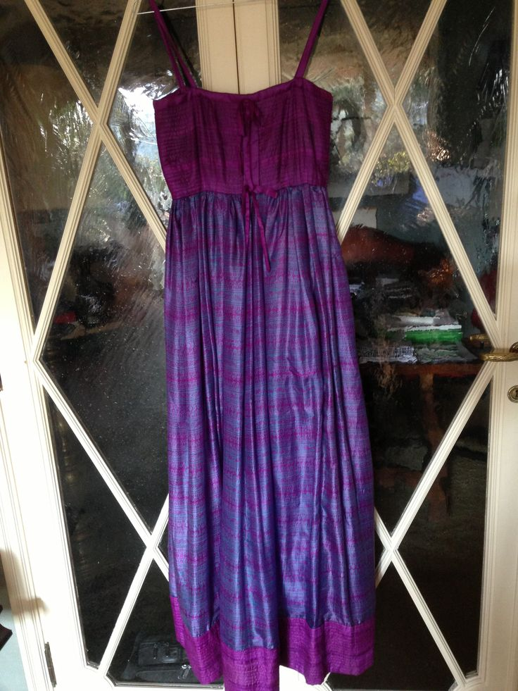 gorgeous #sartorial long purple taffeta dress with silk #petticoat in a different purple shades