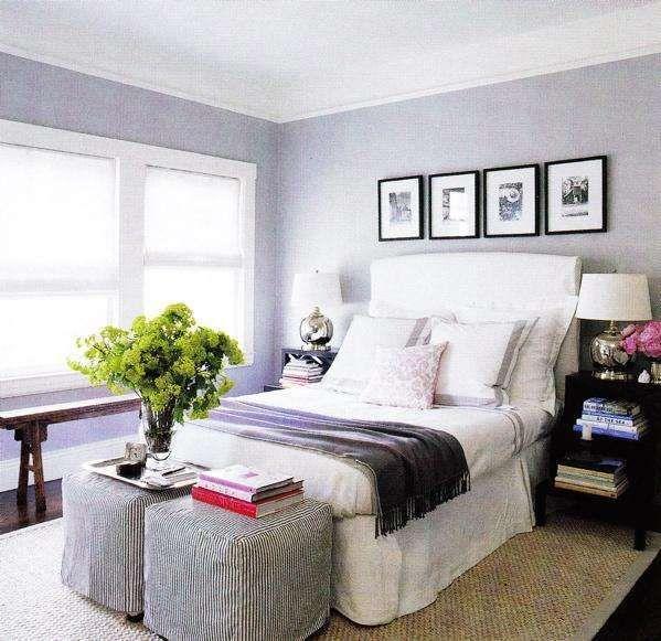 Idee per arredare la camera da letto con il color lavanda - Camera da letto grigio e lavanda