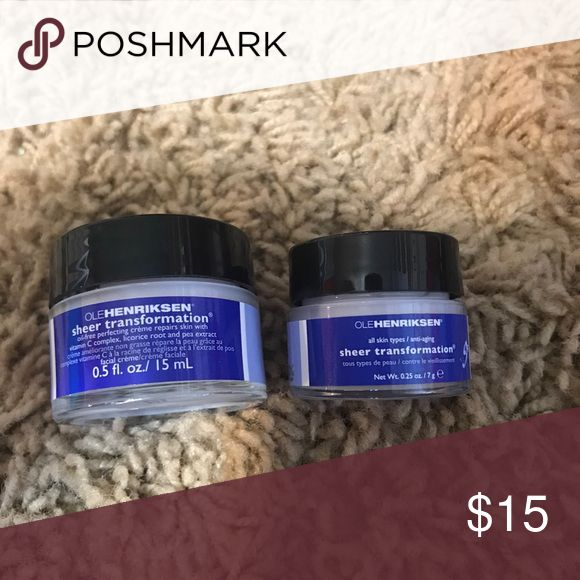 Ole henriksen sheer transformation Includes .25 oz and .5 oz jars. Both new and unused Sephora Makeup