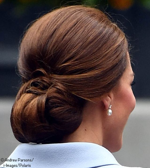 Kate's chignon at a visit to an art gallery in The Netherlands.