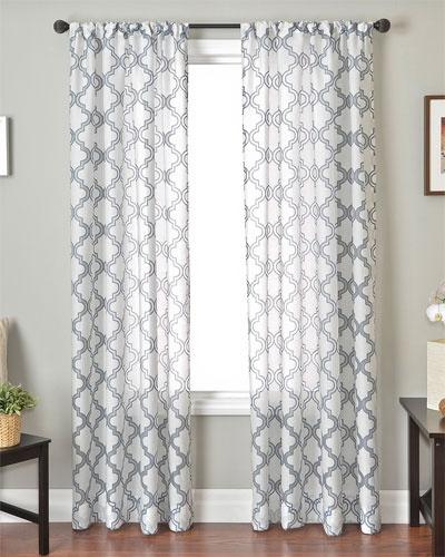 "$49.90/panel - 96"": Princeton Rods Pockets, Living Rooms, Window Sheer, Curtains Panels, Window Panels, Rods Pockets Sheer, Window Treatments, Shower Curtains, Burnout Window"