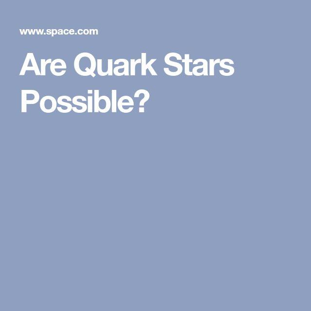 Are Quark Stars Possible?