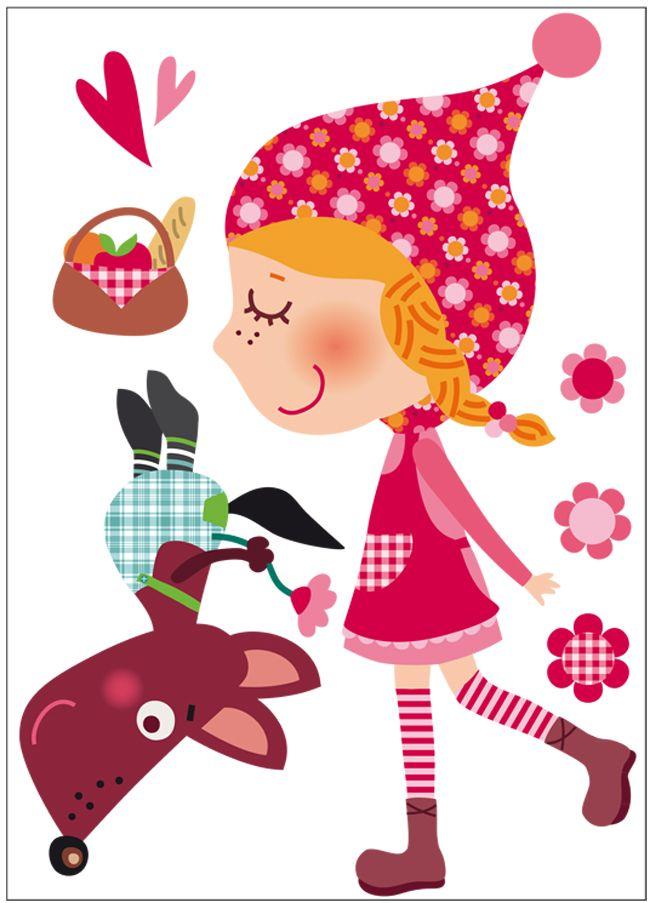 Vinilo decorativo infantil | Caperucita feliz