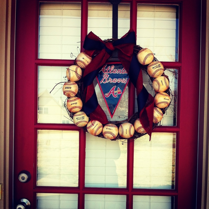 Atlanta Braves baseball wreath! This will be on my future home's front door!