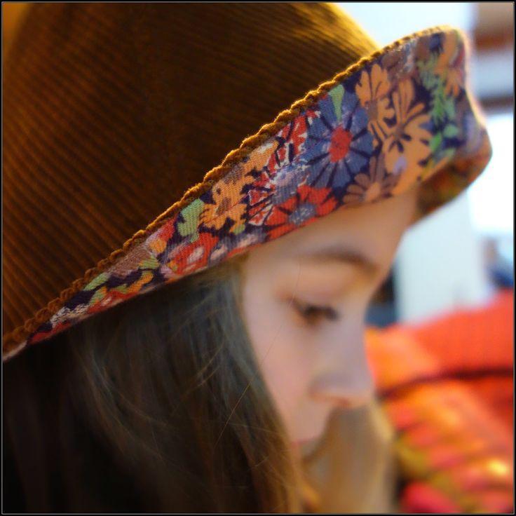 Patron chapeau cloche, modèle années 70, Free pattern hat