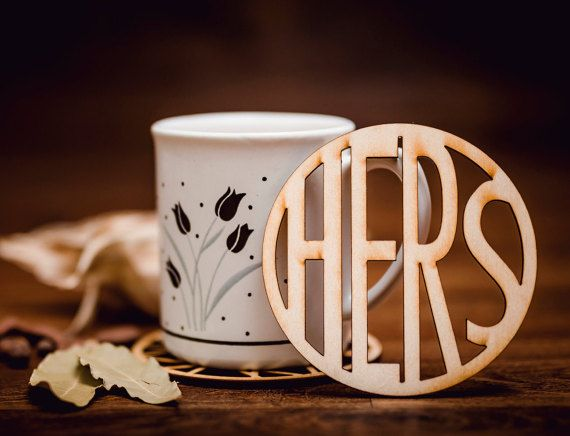 HERS-Wooden Coaster for mug-laser cut-for tea or coffee cup-drink-A005