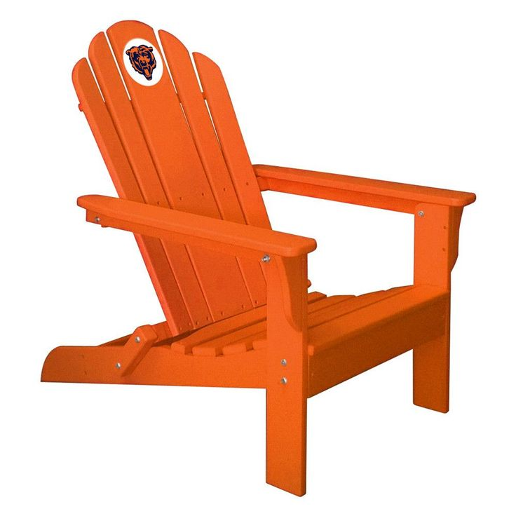 Chicago Bears Folding Composite Adirondack Patio Chair In Old Gold, Black