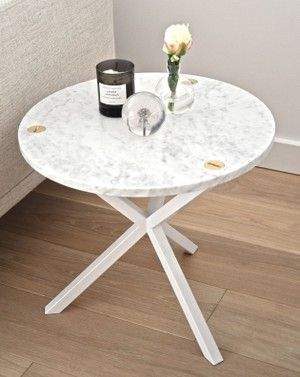 No Early Birds; Round Side Table