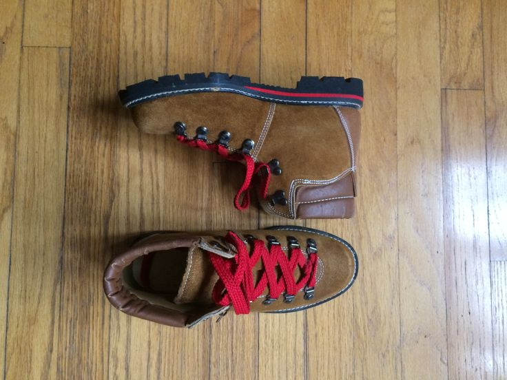 vintage 1980's rugged lumberjack boots / womens hikers / booties / camping hiking boot / size 6 6.5 by yellowjacketvintage on Etsy