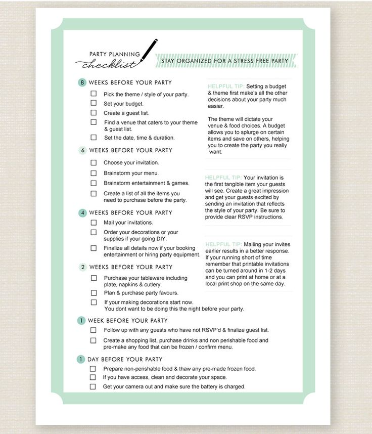 Best 25+ Party planning checklist ideas on Pinterest | Birthday ...