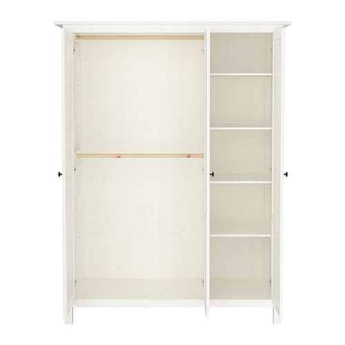 hemnes wardrobe with 3 doors ikea you can move the shelf to four different positions so to. Black Bedroom Furniture Sets. Home Design Ideas