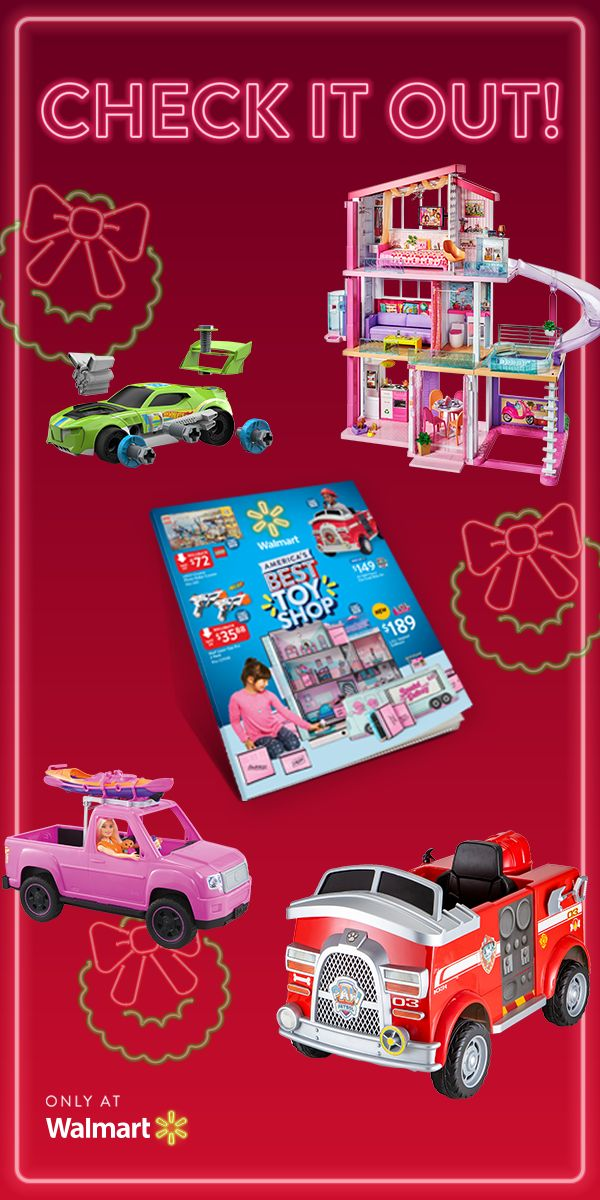 The Kids Catalog! This Christmas, shop all the funnest gifts, exclusively at Walmart. Like the Barbie Dreamhouse, the Hot Wheels Ready-to-Race Builder, the 6-Volt PAW Patrol Marshall Fire Truck, and the Barbie Camping Fun Doll and Vehicle. #AmericasBestToyShop #Walmart