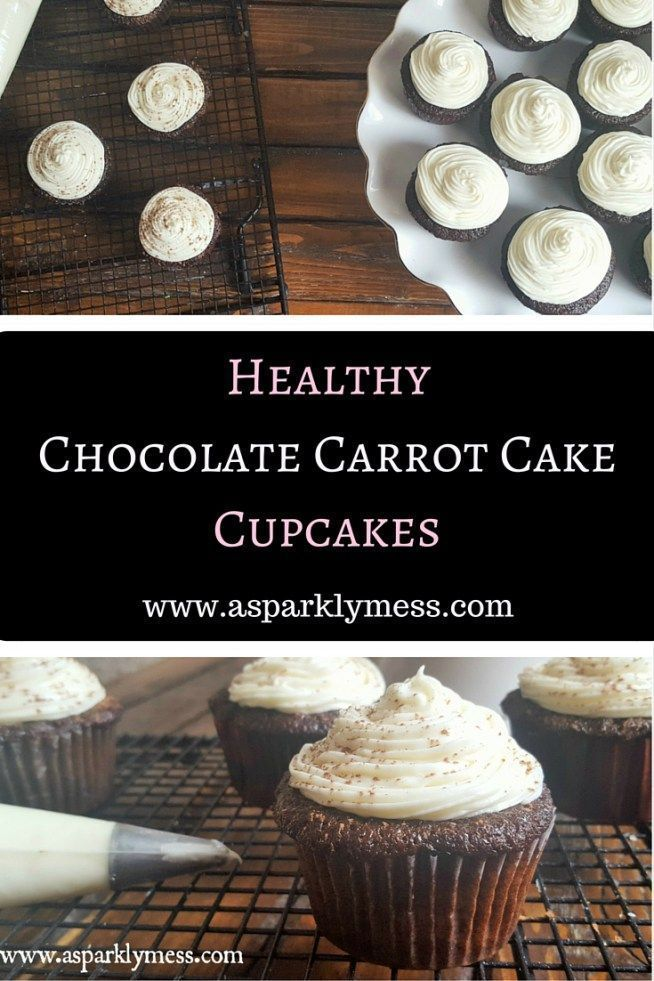 Healthy Chocolate Carrot Cake Cupcakes this recipe can be made gluten free, dairy free, sugar free, or vegan and it is amazing!