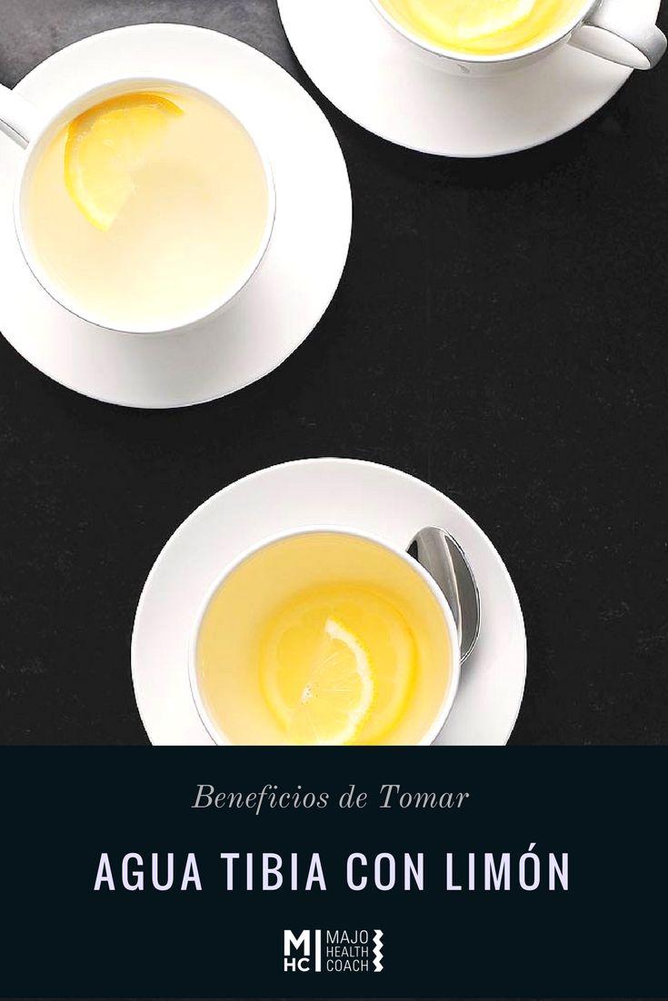 Beneficios de tomar agua tibia con limón
