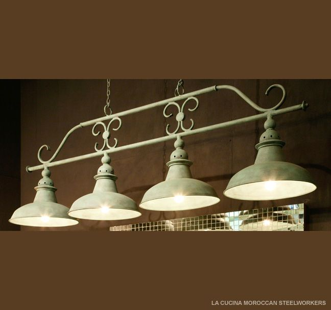 The La Cucina kitchen light with 4 Moroccan shades..