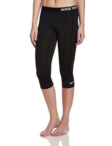 Nike Womens Pro Training Capris Black/White 589366-010 Size X-Small -