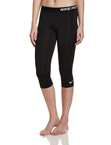 New Nike Womens Pro Capri BlackReflective Silver Small *** Learn more by visiting the image link.