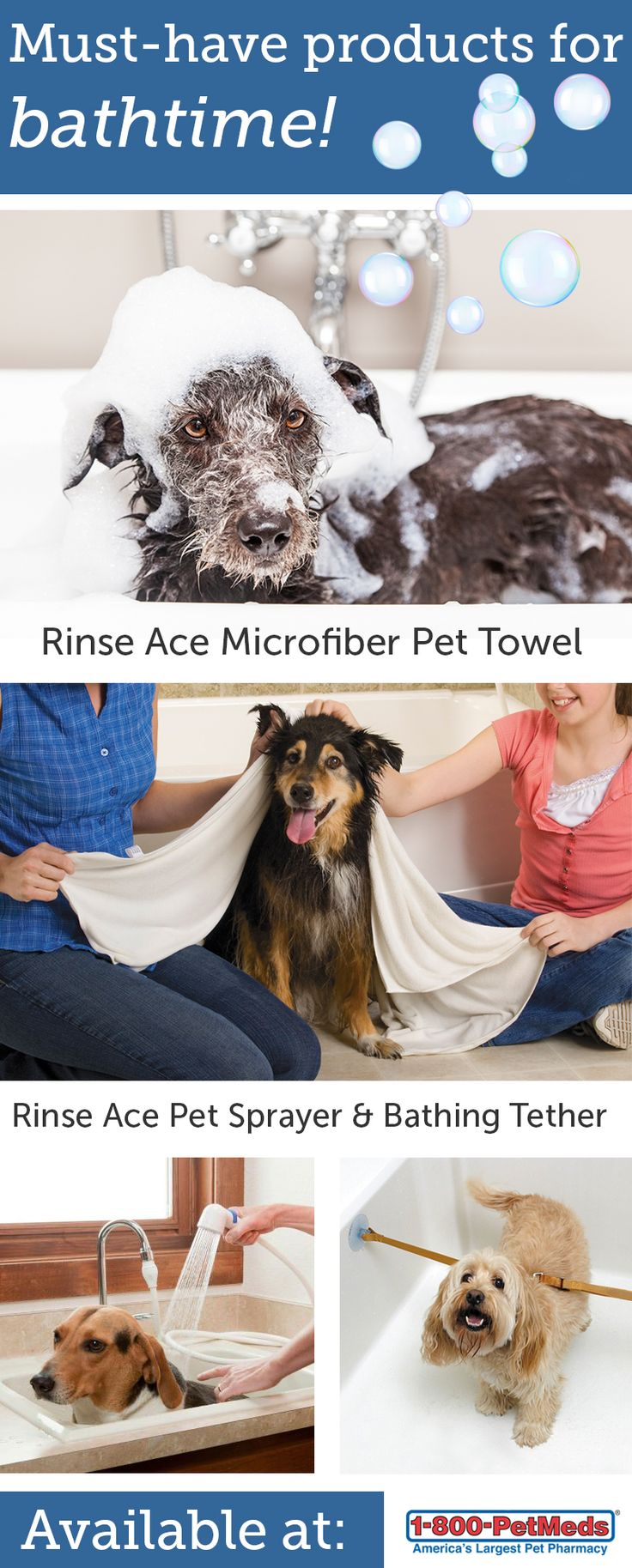 30 best dogs dogs dogs images on pinterest doggies dogs and fur make bath time a breeze with these handy rinse ace products pet sprayer super absorbent microfiber pet towel and pet bathing tethers solutioingenieria Image collections