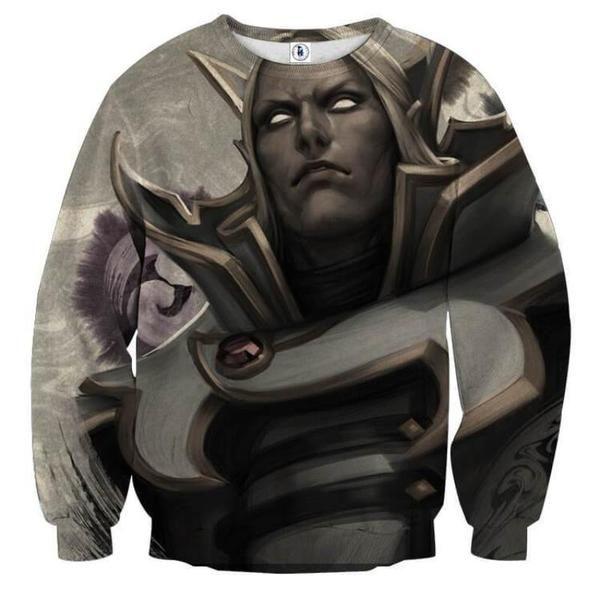 Invoker Black And White 3D Printed Invoker Sweatshirt