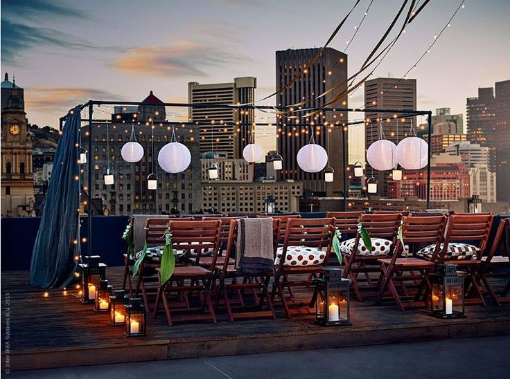 Stage a Rooftop Party with Modest Means                                                                                                                                                     More