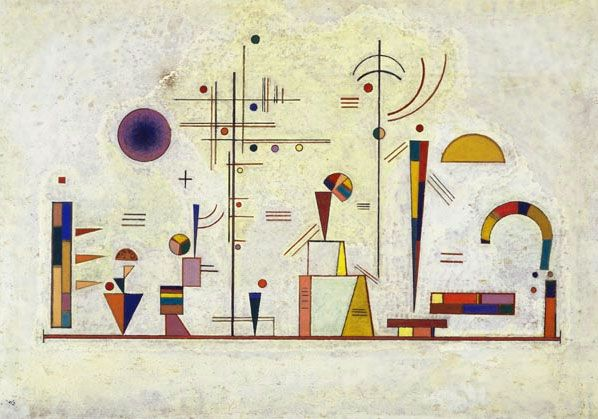 Wassily Kandinsky - Serious- Fun, 1930