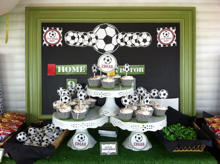 Soccer birthday party decor soccer birthday party for Decoration theme jardin