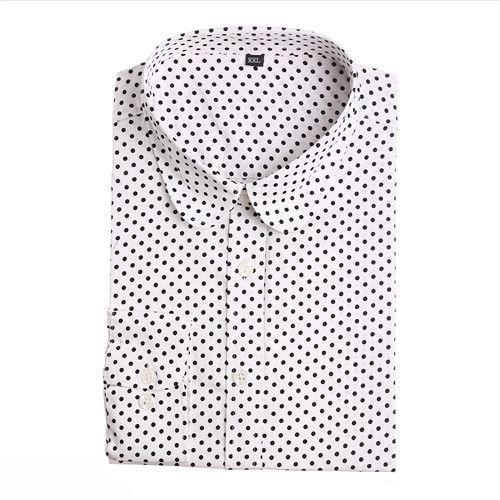 Dioufond 2016 Fashion Polka Dot Blouse Long Sleeve Shirt Women Blouses Cotton Women Shirts Red Blue Dot Top Blusas Women Tops