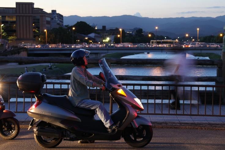 鴨川の北川を望む。 京都 kyoto