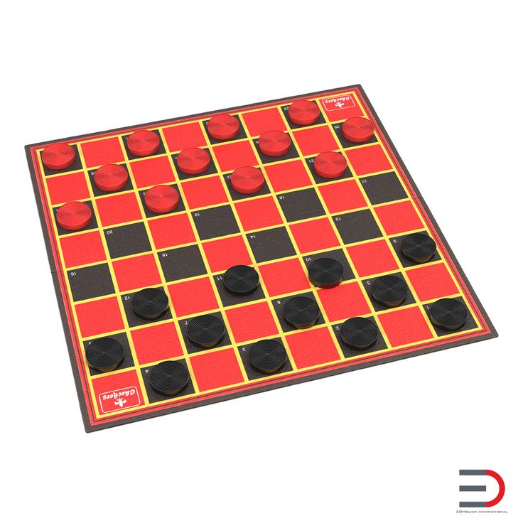 Checkers 3d model  http://www.turbosquid.com/3d-models/maya-checkers-modeled-realistic/934289?referral=3d_molier-International