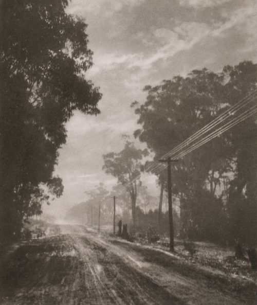 Harold Cazneaux Old South Road, near Mittagong New South Wales, circa 1912 Bromoil