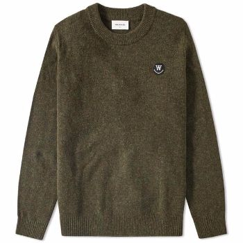 Wood Wood Jet Set Yale Sweater : Jet set Yale sweater by Wood Wood. This wooly jumper is great for colder months, whilst nodding towards the Ivy League with the ribbed hem and cuffs.