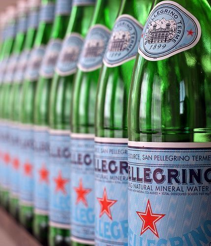 Bottles of Pellegrino- The bottles are stylish, hip, modern classics that make any room look instantly chic. Italian design at its best – simple classic style – love it!  Just place one or more on your counter, on your bar, or just about anywhere in your home and you have created style – effortlessly.