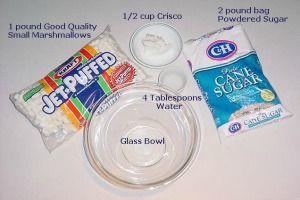 Marshmallow Fondant Ingredients